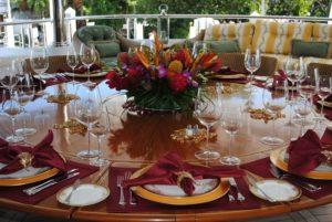 Prestieranie na stôl v lete